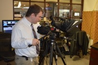 Look...a human cameraman, not a robot