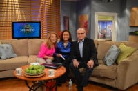 John on set with Melissa and Jeanne moments after the interview.