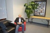 John Landecker in the green room