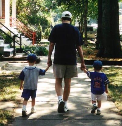 rick walking with boys